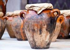 Vaso e outros produtos do marroquino Fotografia de Stock