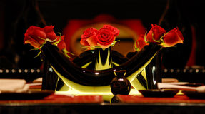 Vaso e rose Immagini Stock