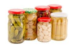 Vaso ecologico marinato di vetro dell'alimento biologico della prerogativa Fotografia Stock Libera da Diritti