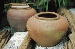 Vaso fatto di argilla Immagine Stock