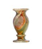 Vaso fatto di una pietra del onyx isolata Immagine Stock Libera da Diritti