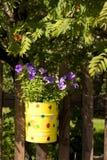 Vaso giallo Fotografia Stock Libera da Diritti