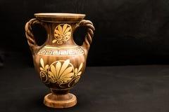 Vaso greco con progettazione del fiore immagine stock