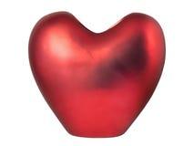 Vaso heart-shaped rosso Fotografia Stock Libera da Diritti