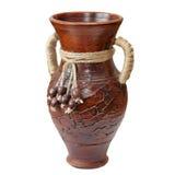 Vaso isolato dell'argilla Fotografie Stock Libere da Diritti