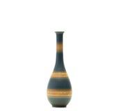 Vaso moderno da cerâmica com os testes padrões bonitos isolados imagens de stock royalty free
