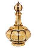 Vaso orientale di legno isolato su bianco Immagine Stock