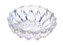 Vaso ou prato de vidro Isolado no fundo branco imagens de stock royalty free