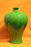 Vaso verde della porcellana Immagini Stock Libere da Diritti