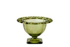 Vaso verde do vidro da depressão Imagem de Stock