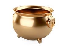 Vaso vuoto dell'oro Immagine Stock