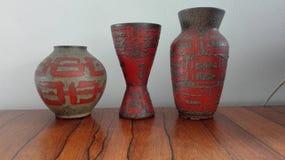 3 vasos Imagem de Stock Royalty Free
