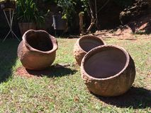 3 vasos da argila Imagens de Stock