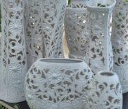 Vasos da argila da rede de pesca Fotos de Stock