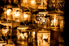 Vasos da vela Fotografia de Stock