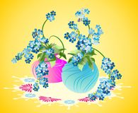 Vasos das flores Foto de Stock Royalty Free