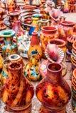 Vasos de flor coloridos da argila Imagens de Stock Royalty Free