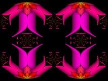 Vasos de flores refletidos ilustração royalty free