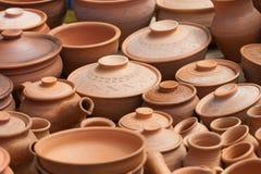 Vasos de terra da argila Fotografia de Stock