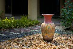 Vasos decorativos da argila Fotografia de Stock