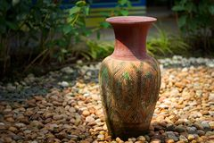 Vasos decorativos da argila Imagens de Stock