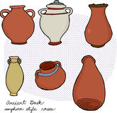 Vasos do grego clássico Fotografia de Stock