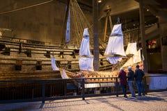 Vasos modelo del buque de guerra Imagen de archivo