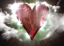 Vasos sanguíneos do símbolo do coração foto de stock royalty free