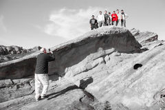Vasquez岩石在加利福尼亚 库存图片