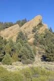 Vasquez岩石,圣塔克拉里塔,加州 免版税图库摄影