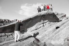 Vasquez-Felsen in Kalifornien Stockbild