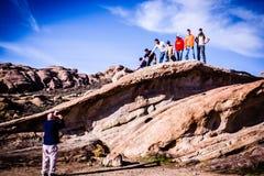 Vasquez Rock in California Stock Images