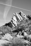 Vasquez Rocks Cross Royalty Free Stock Photo