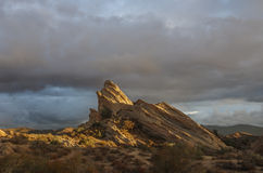 Vasquez Rocks Natural Area. Park in Agua Dulce, California, USA. This geological feature has been used in many Hollywood movies and commercials stock photos