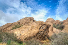 Vasquez Rocks Natural Area Park After the Rain Royalty Free Stock Image