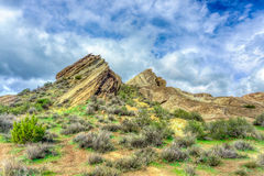 Vasquez Rocks Natural Area Park After the Rain Stock Photography