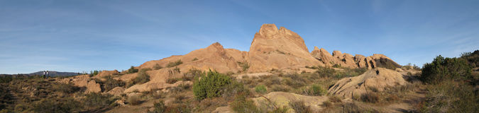 Vasquez Rocks Panorama Royalty Free Stock Image