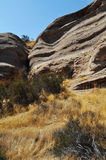 Vasquez vaggar naturligt område, kanjonland Arkivfoton
