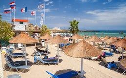 Vassilikos, Zakynthos, Grecja plażowy linii brzegowej horyzontu gór lato Zdjęcie Royalty Free