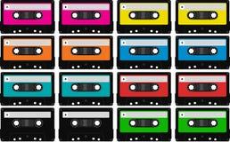 Vassoi in bianco della cassetta audio Immagine Stock