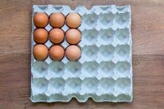 Vassoi dell'uovo del pollo Fotografia Stock