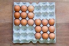 Vassoi dell'uovo del pollo Immagine Stock