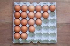 Vassoi dell'uovo del pollo Fotografie Stock Libere da Diritti