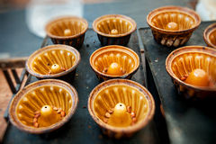 Vassoi tradizionali di cottura del bundt Immagine Stock Libera da Diritti