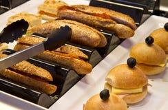 Vassoio assortito dei panini immagini stock