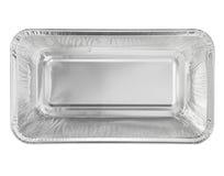 Vassoio del contenitore di alimento della stagnola con lo spazio in bianco Fotografia Stock Libera da Diritti