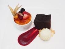Vassoio del dessert Fotografia Stock Libera da Diritti