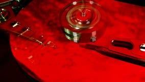 Vassoio del disco rigido colorized stock footage
