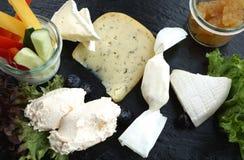 Vassoio del formaggio Fotografie Stock
