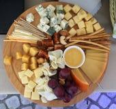 Vassoio del formaggio Immagini Stock Libere da Diritti